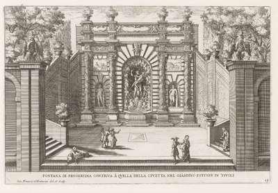 Fontein van Proserpina in de tuinen van de Villa d'Este te Tivoli