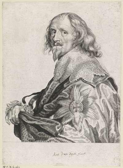 Portret van Philip Herbert 4e graaf van Pembroke, 1e graaf van Montgomery