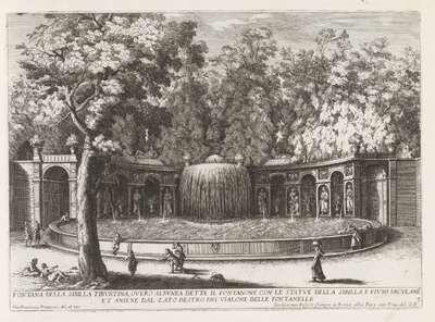 Fontana dell'Ovato in de tuinen van de Villa d'Este te Tivoli