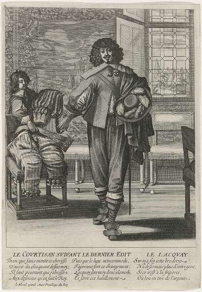 Franse hoveling die het Edict van 1633 navolgt