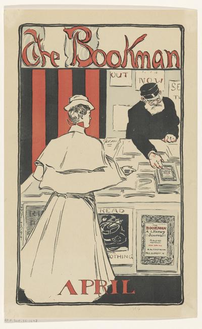 Reclamebiljet voor het aprilnummer 1896 van het tijdschrift The Bookman