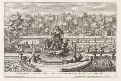Fontana delle Aquile Estensi in de tuinen van de Villa d'Este te Tivoli