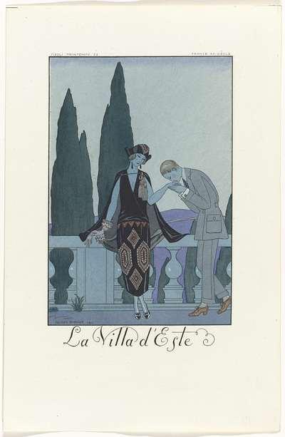 Falbalas et Fanfreluches: almanach des modes présentes, passées & futures pour 1923, 2e année: La Villa d'Este / France XXe siècle