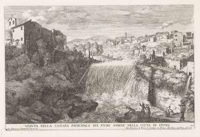 Waterval in de rivier de Aniene bij Tivoli