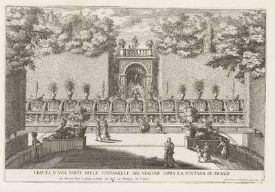 Fontein in de tuinen van de Villa d'Este te Tivoli