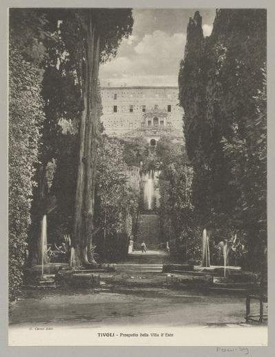Gezicht op Villa d'Este in Tivoli