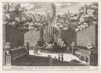 Fontana del Bicchierone in de tuinen van de Villa d'Este te Tivoli