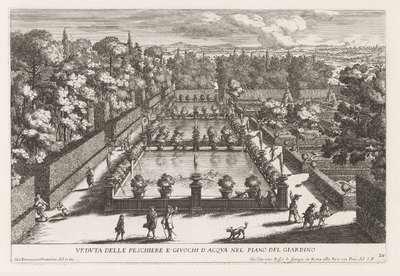 Visvijvers in de tuinen van de Villa d'Este te Tivoli