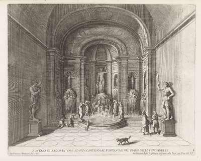 Fontein van Bacchus in de Villa d'Este te Tivoli