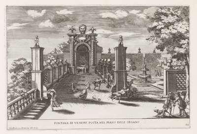 Fontein van Venus in de tuinen van de Villa d'Este te Tivoli