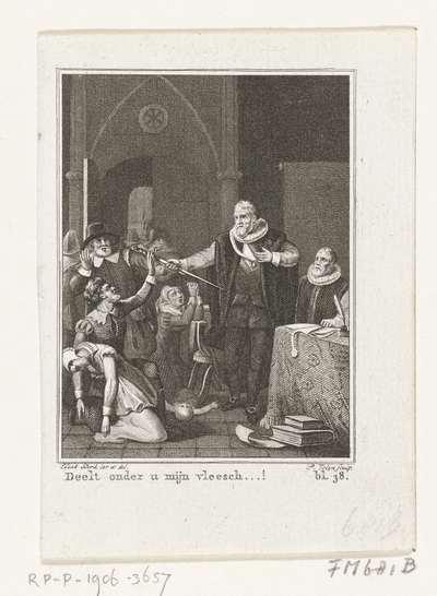 De zelfopoffering van burgemeester Pieter van der Werff, 1574