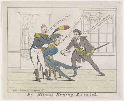 Spotprent op de reis van prins Leopold naar België, 1831