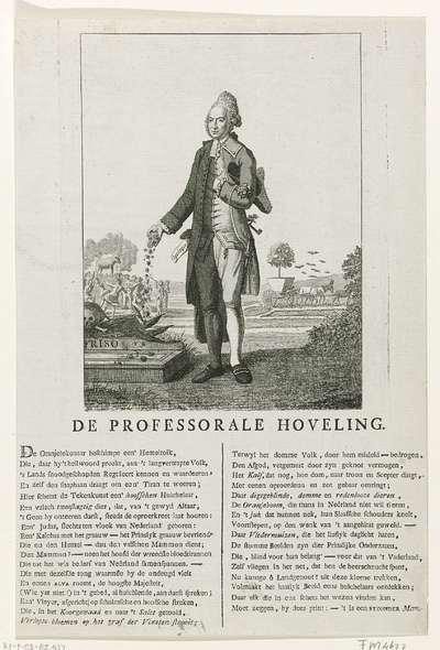 Spotprent op de Oranjegezinde predikant Petrus Hofstede, 1785