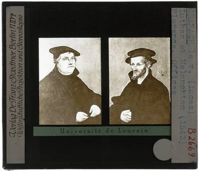 Lucas Cranach der Ältere. Portret van Martin Luther en Philipp Melanchthon