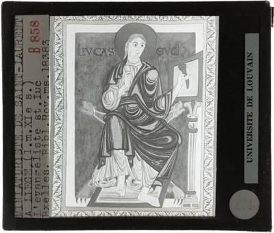 Evangeliarium sancti Laurentii Leodiensis Evangelist St.-Lucas