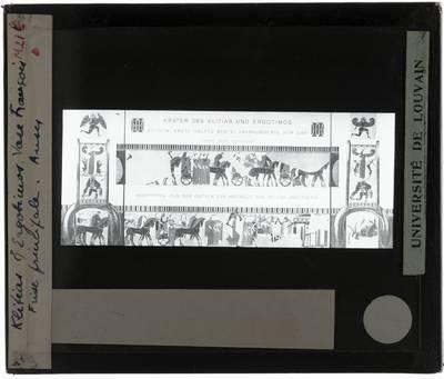 Oud-Grieks aardewerk. Kleitias en Ergotimos. Françoisvaas Huwelijk van Peleus en Thetis