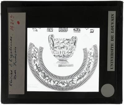 Oud-Grieks aardewerk. Kleitias en Ergotimos. Françoisvaas Gevecht tussen Pygmeeën en Kranen