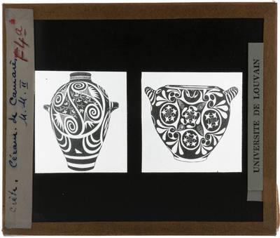 Oud-Grieks aardewerk. Twee vazen