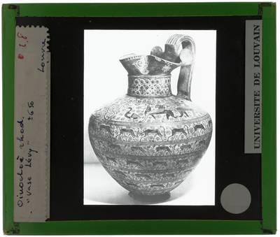 Oud-Grieks aardewerk. Amfora. Zogenaamde Levy Oinochoe
