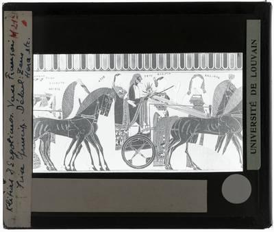 Oud-Grieks aardewerk. Kleitias en Ergotimos. Françoisvaas Zeus en Hera