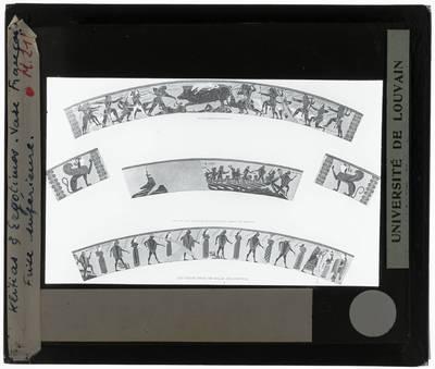 Oud-Grieks aardewerk. Kleitias en Ergotimos. Françoisvaas Bovenste fries