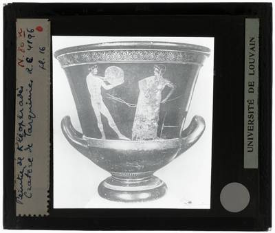 Oud-Grieks aardewerk. Kleophrades painter. Amfora Discuswerper
