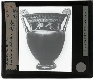 Oud-Grieks aardewerk. Berliner Maler. Volute-krater Achilles vecht tegen de Ethiopische koning Memnon