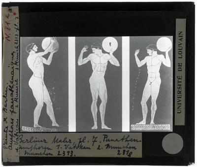 Oud-Grieks aardewerk. Berliner Maler. Drie amforen Discuswerpers