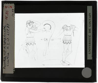 Oud-Grieks aardewerk. Kleophrades Painter. Kilyx-krater