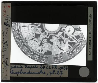 Oud-Grieks aardewerk. Kleophrades Painter. Hydria Ilioupersis: Detail rechts