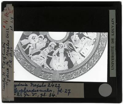 Oud-Grieks aardewerk. Kleophrades Painter. Hydria Ilioupersis: Detail links