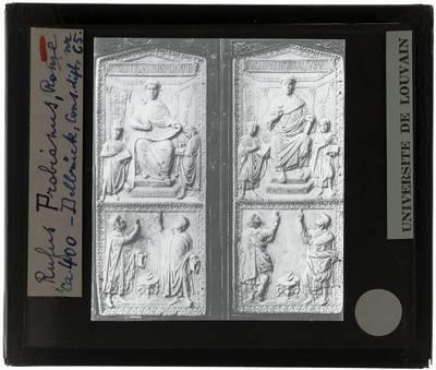 Reliëf. Diptiek van Rufius Probianus