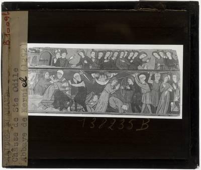Anoniem. Schrijn van de H. Odilia Lange zijde met martelscenes