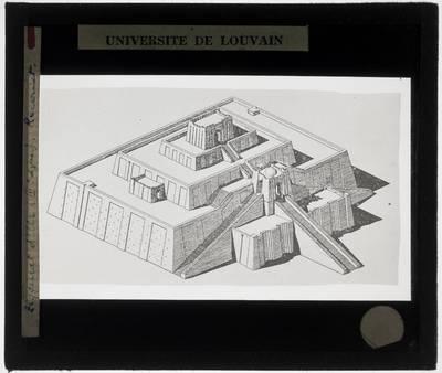 Ur. Ziggurat Reconstructietekening
