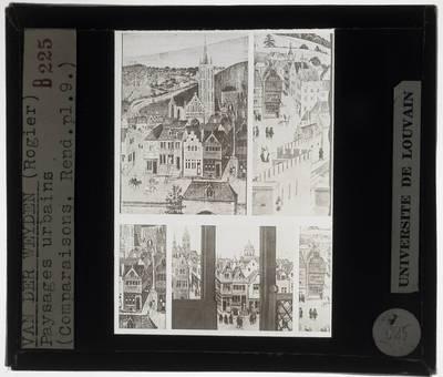 Rogier van de Weyden. Vergelijking van stadsgezichten en dorpsgezichten