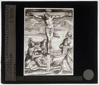 Agostino Carracci naar Paolo Veronese. Crucifix