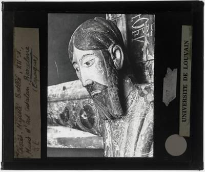 Crucifix Majestad de Batelo' Detail: Hoofd van Christus
