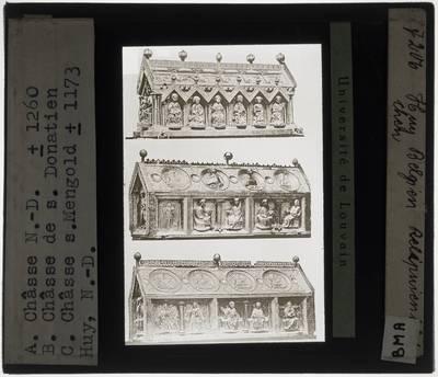 Drie reliekschrijnen uit België, Hoei, Kerk Onze-Lieve-Vrouw