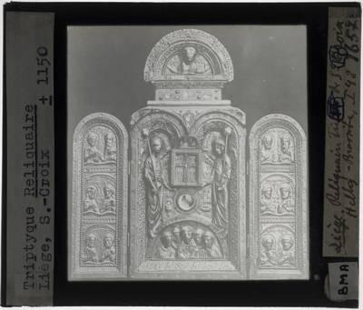 Godefroid de Huy. Triptiek, reliekschrijn, van het Heilige Kruis