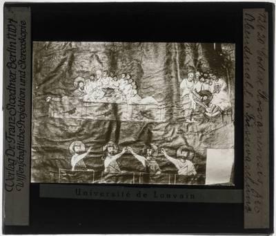 Codex purpureus Rossanensis Miniatuur: Laatste avondmaal en Het wassen van de voeten
