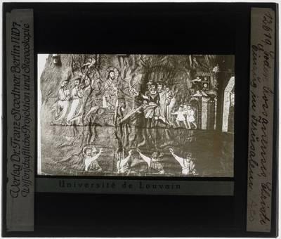 Codex purpureus Rossanensis Miniatuur: De intocht van Jezus in Jeruzalem