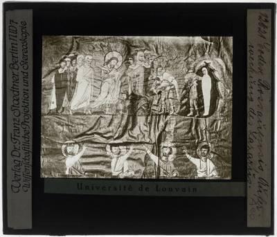 Codex purpureus Rossanensis Miniatuur: De opstanding van Lazarus