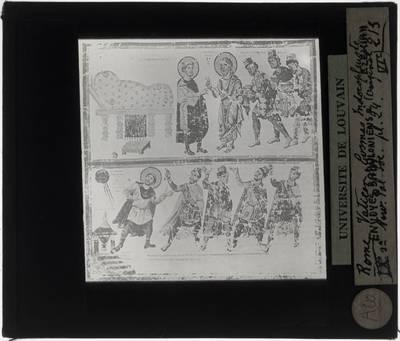 Topographia Christiana Miniatuur: Bezoek aan Babylonië