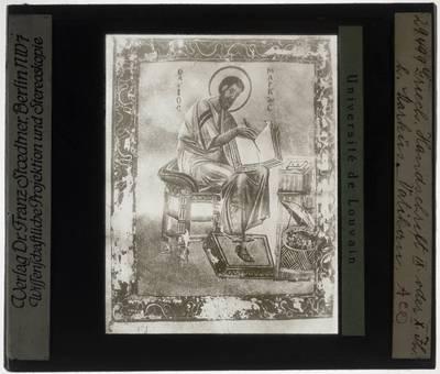 Miniatuur van Marcus uit Grieks handschrift
