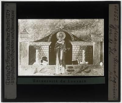 Menologium van Basilius II Miniatuur met een Heilige