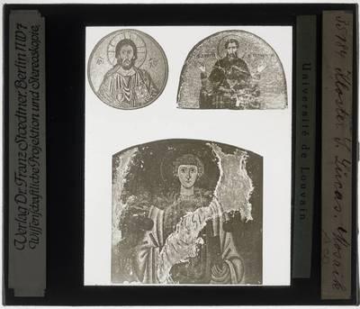 Drie mozaïeken uit het klooster van osios Loukas
