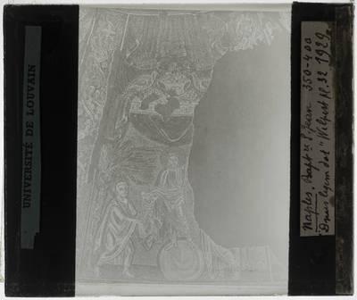 Christus op een wereldbol met Sint-Pieter