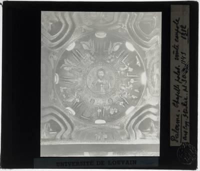 Centrale koepel met mozaïek met Pantocrator omringd door acht engelen