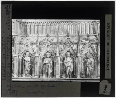 Colars de Douai. Jacquemon de Nivelles. Jacques d'Anchin. Reliekschrijn van de Heilige Gertrudis van Nijvel Detail: Lange zijde, rechts; rechtse gedeelte