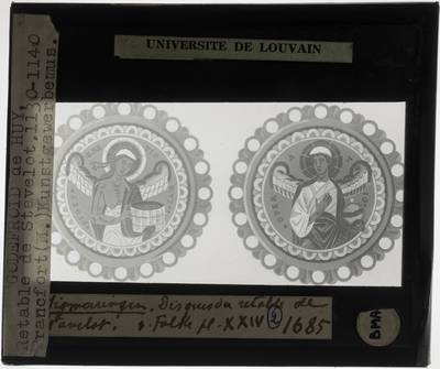 Godefroid de Huy. Twee medaillons van het schrijn van de Heilige Remaclus